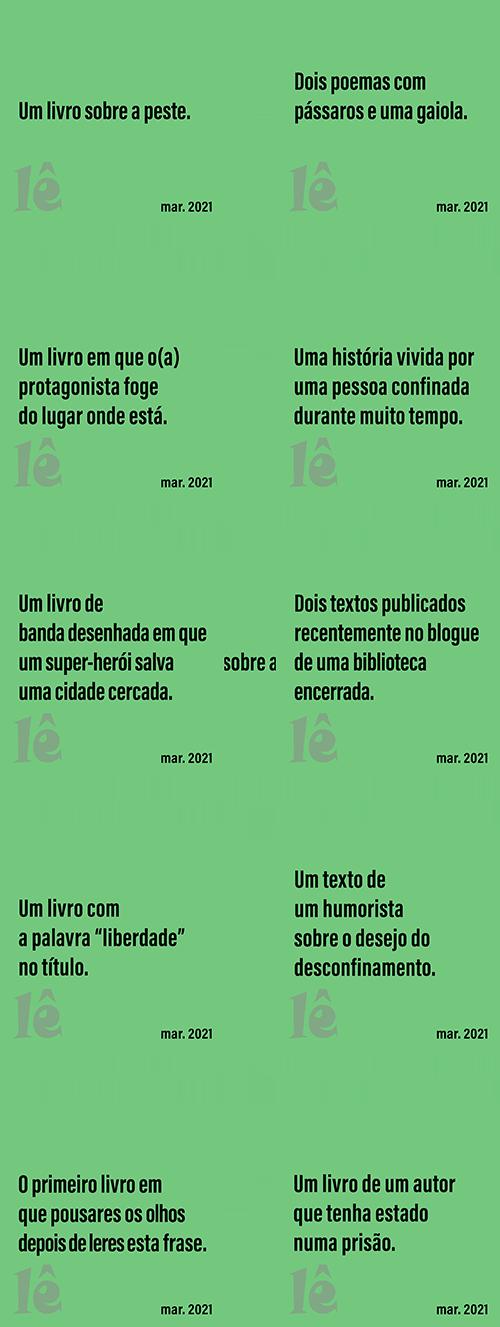 Ideias de Leitura - fevereiro 2021